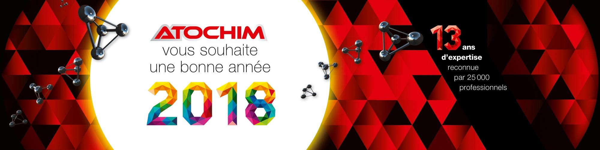 ATOCHIM vous souhaite une bonne année 2018